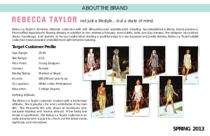 ABOUT THE BRAND                                                   not just a lifestyle... but a state of mind.Rebecca Tayl...