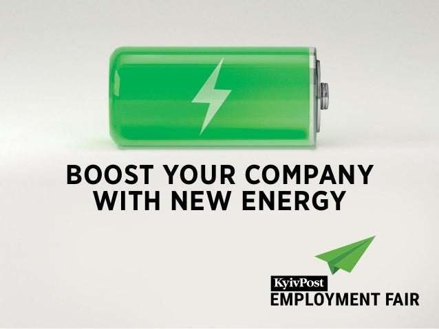 BOOST YOUR COMPANY WITH NEW ENERGY
