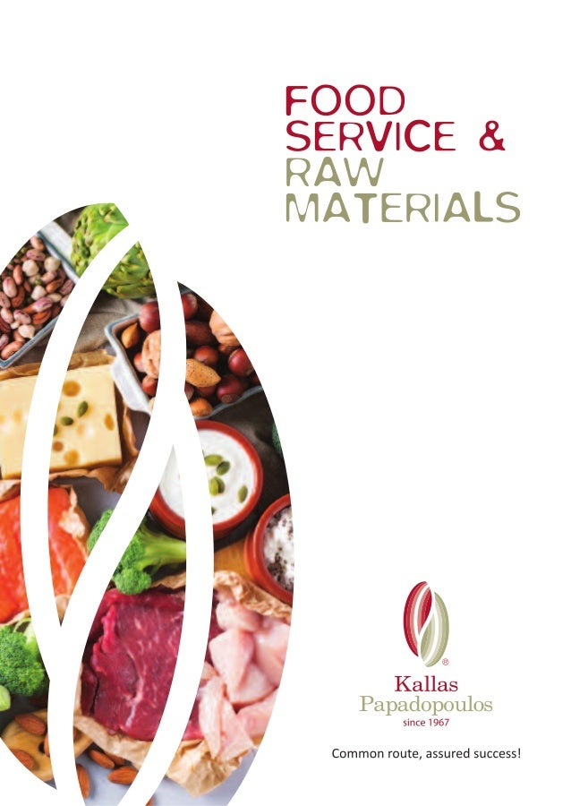 Food Service Raw Materials Catalogue 2019