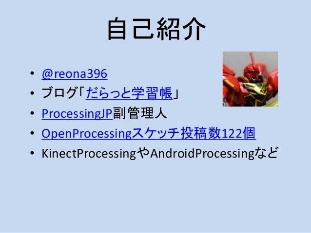 Processing×Webの薄い本ください。 ~Processing.jsについて~ Slide 3