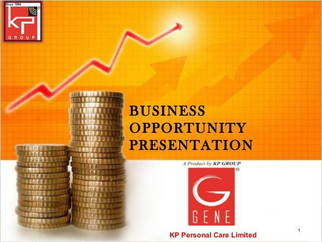 BUSINESSOPPORTUNITYPRESENTATION                              1   KP Personal Care Limited