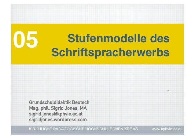 05!          Stufenmodelle des           Schriftspracherwerbs!                                                        .. G...