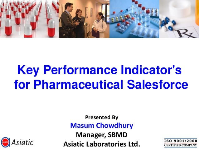 Key Performance Indicatorsfor Pharmaceutical Salesforce               Presented By          Masum Chowdhury            Man...