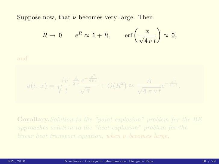 Nonlinear transport phenomena: models, method of solving ...