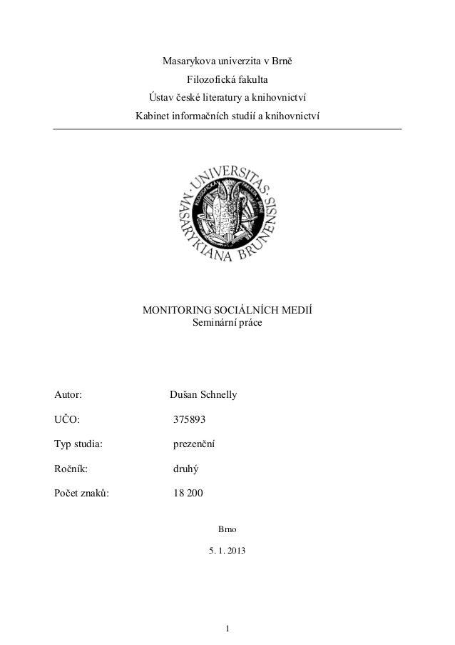 Masarykova univerzita v Brně                          Filozofická fakulta                  Ústav české literatury a knihov...