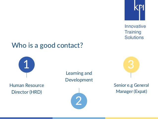 Innovative  Training  Solutions  1  2  3  Human Resource  Director (HRD)  Learning and  Development  Senior e.g General  M...
