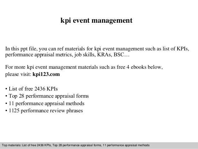 kpi event management