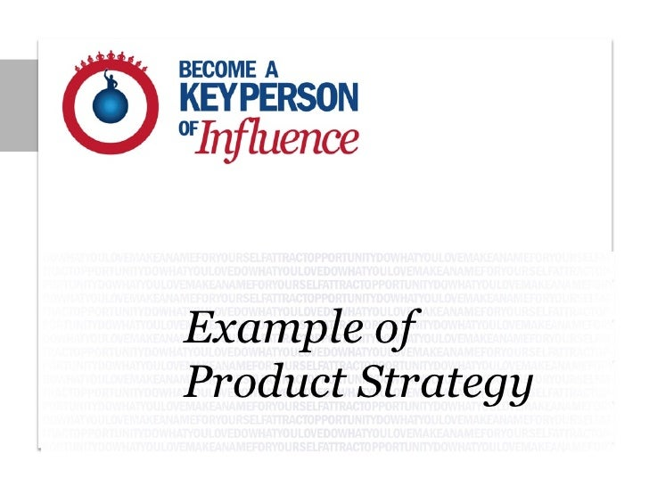 Example ofProduct Strategy