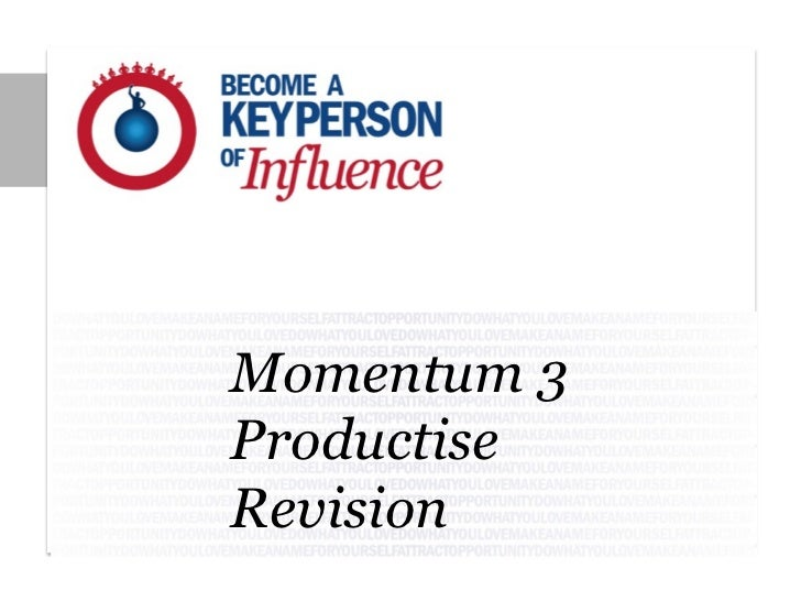 Momentum 3ProductiseRevision