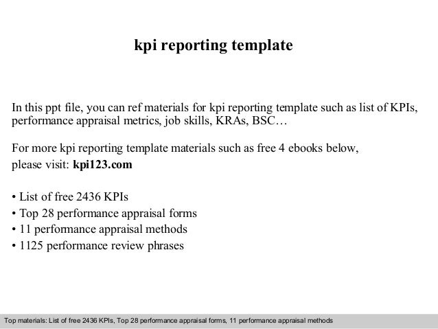 Interview questions and answers – free download/ pdf and ppt file kpi reporting template In this ppt file, you can ref mat...