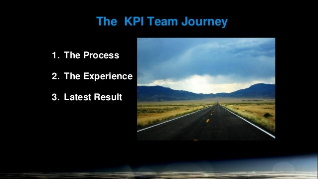 The KPI Team Journey  1. The Process 2. The Experience  3. Latest Result