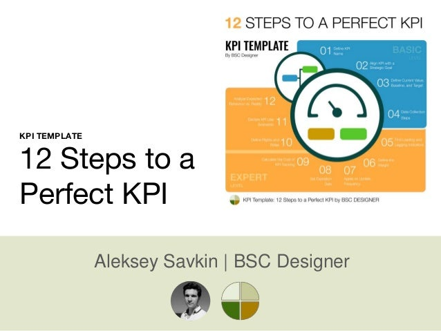 Aleksey Savkin | BSC Designer KPI TEMPLATE 12 Steps to a Perfect KPI