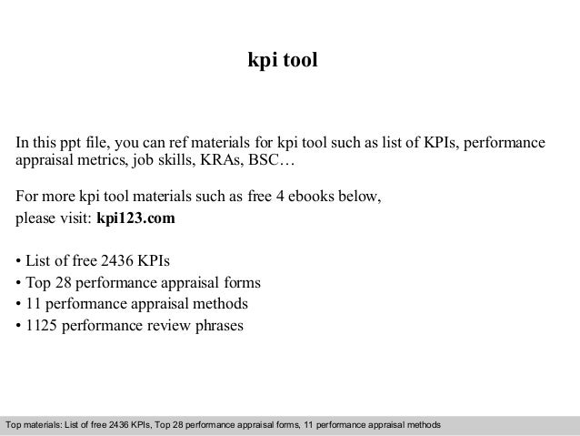 Interview questions and answers – free download/ pdf and ppt file kpi tool In this ppt file, you can ref materials for kpi...