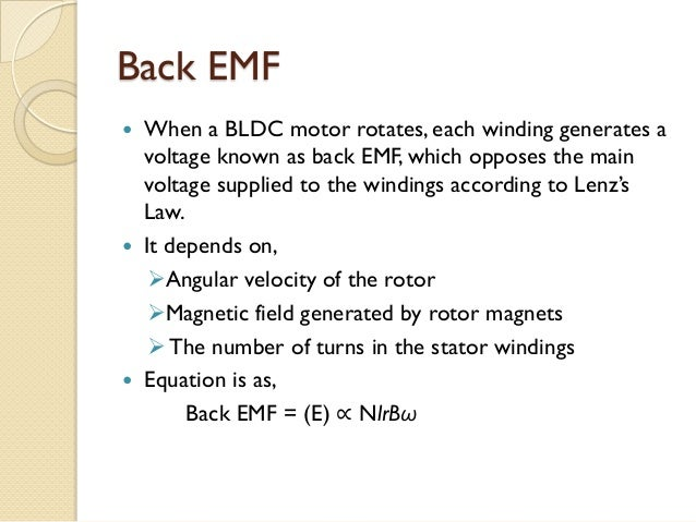 Study of vector control algorithm and inverter design for for Bldc motor design calculations