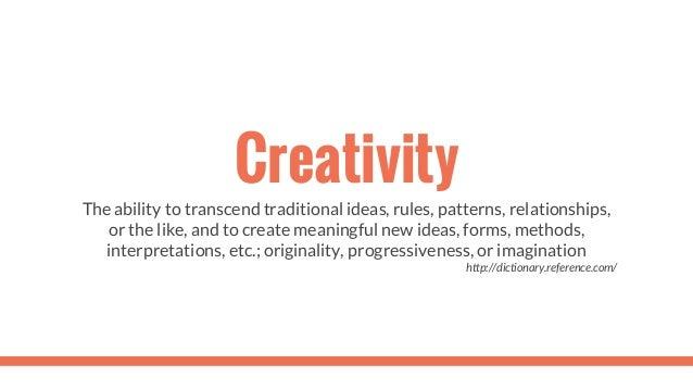 Creativity Slide 3