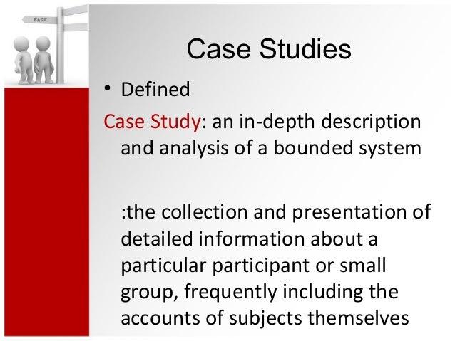 Qualitative case study unit of analysis