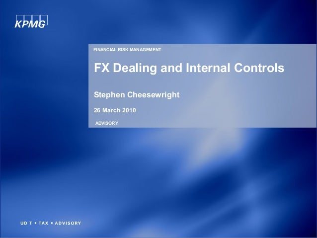 FX Dealing and Internal Controls Stephen Cheesewright 26 March 2010 ADVISORY FINANCIAL RISK MANAGEMENT