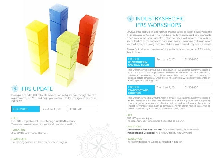 induSTRy-SpeCiFiC                                                                                     iFRS woRkSHopS      ...