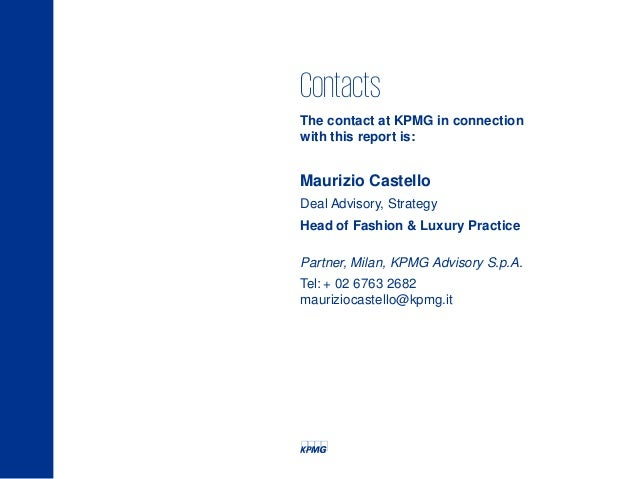 KPMG LUXURY SUMMIT M&A Fashion & Luxury in Italy