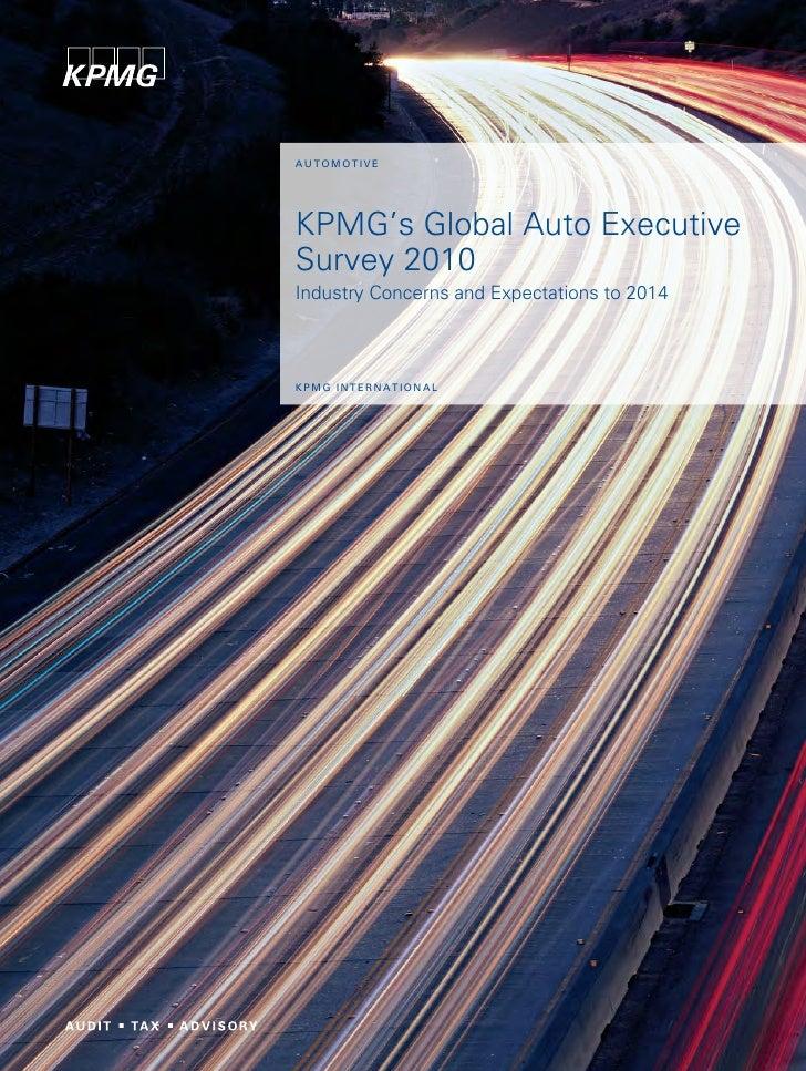 Kpmg's global_auto_executive_survey_2010