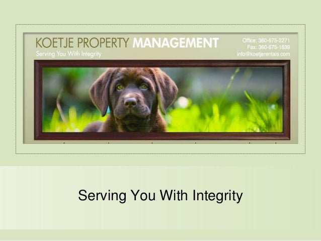 Serving You With Integrity