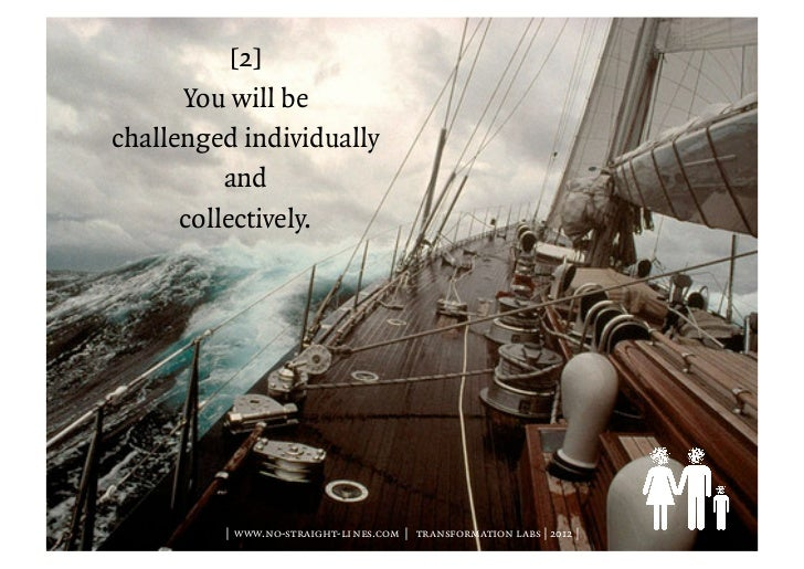 [2]      You will bechallenged individually          and      collectively.         | www.no-straight-lines.com | transfor...