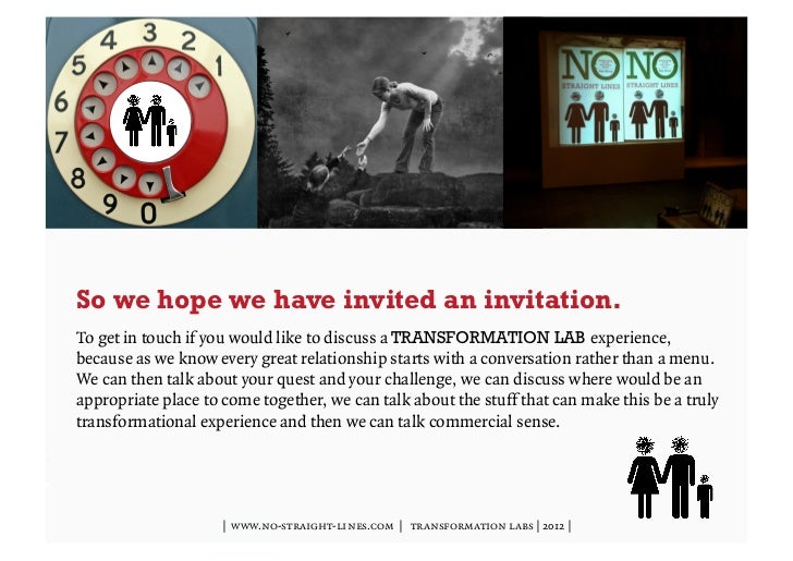 So we hope we have invited an invitation.To get in touch if you would like to discuss a TRANSFORMATION LAB experience,beca...