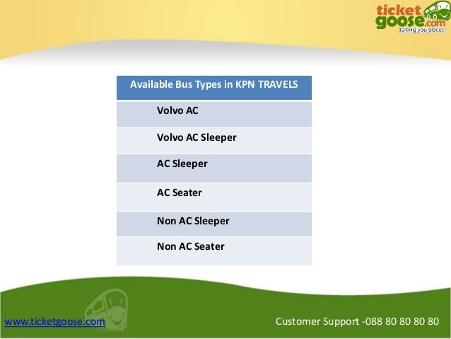 Kpn Travels Bus Booking