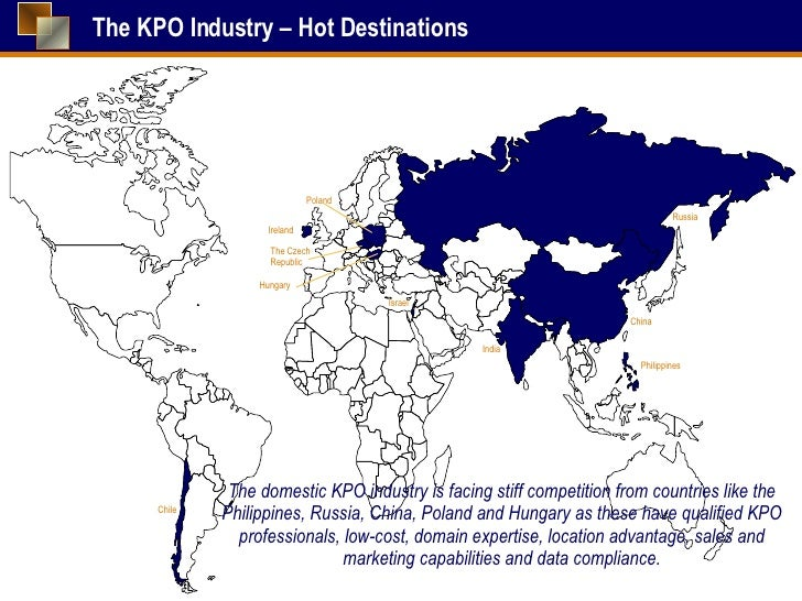kpo industry Kpo industry had begun to exhibit signs of a potential slowdown in 2008, and evalueserve's articles [ 7,8,9] actually discussed the possibility of this industry.