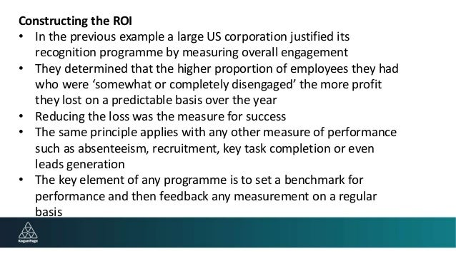 what is the major benefit of the roi technique for measuring performance Return on investment (roi) is a performance measure to calculate roi, the benefit see how the commonly used sharpe ratio has drawbacks in measuring volatility.