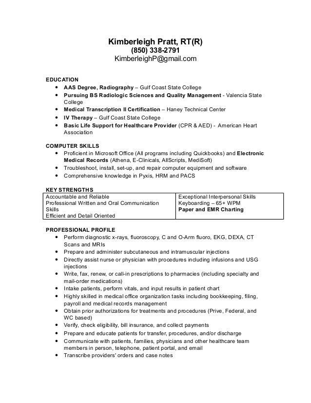 kimberleigh pratt rt r resume