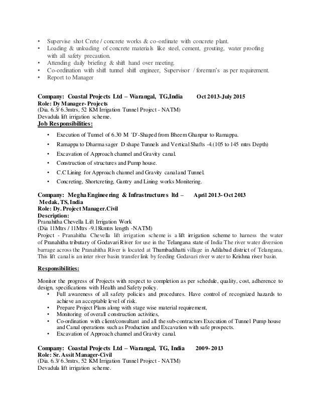 kpr resume tunnel engineer