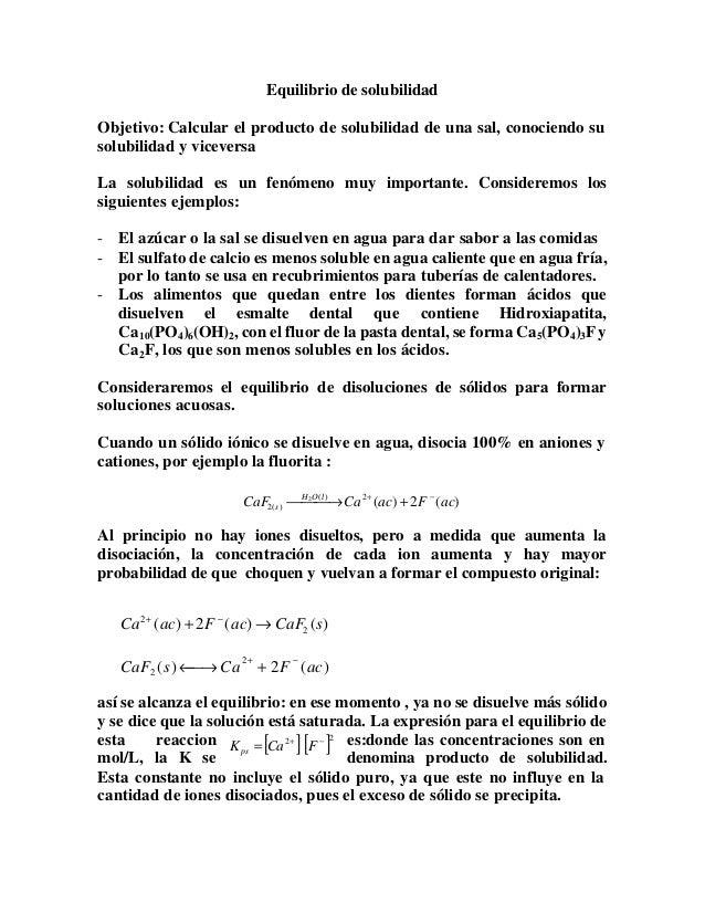 Kps (Calculo de la solubilidad)