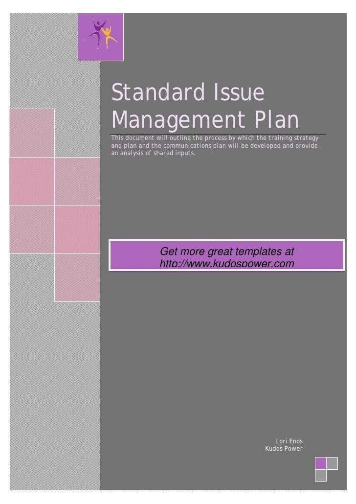 issue management plan