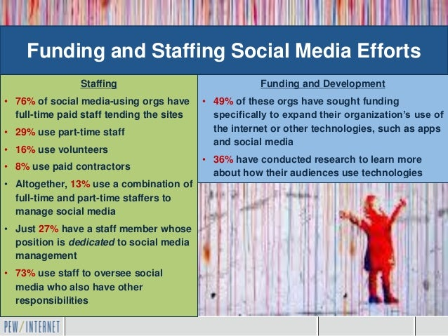 Funding and Staffing Social Media Efforts                Staffing                               Funding and Development• 7...