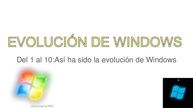 Del 1 al 10:Así ha sido la evolución de Windows