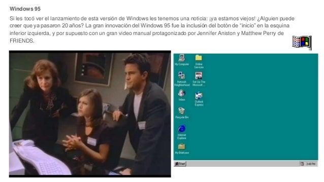 Windows 95 Si les tocó ver el lanzamiento de esta versión de Windows les tenemos una noticia: ¡ya estamos viejos! ¿Alguien...