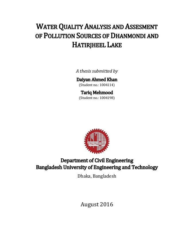 water quality analysis thesis