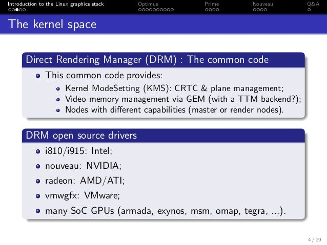 Kernel Recipes 2014 - The Linux graphics stack and Nouveau
