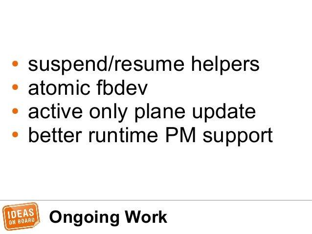61 ongoing work suspendresume helpers