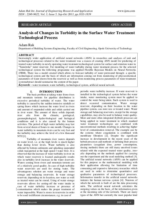 Adam Rak Int. Journal of Engineering Research and Application ISSN : 2248-9622, Vol. 3, Issue 5, Sep-Oct 2013, pp.1833-183...