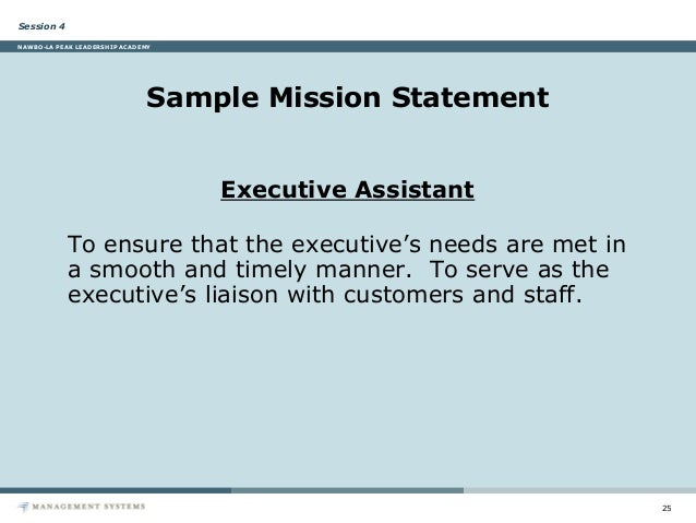 Session Nawbo La Peak Leadership Academy Sample Mission Statement Executive Assistant Jpg 638x479 Smart Goals Examples