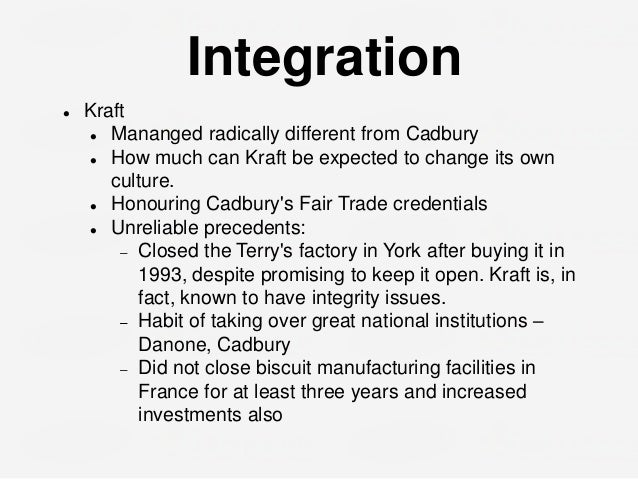 horizontal integration and kraft Explore along with strategic management insight the definition, key advantages and disadvantages of horizontal integration before you make up your mind.