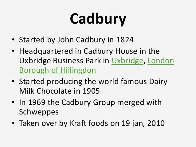 cadbury and kraft Cadbury chairman roger carr explained his approval of the takeover: we believe the offer represents good value for cadbury shareholders and are pleased with the commitment that kraft foods has made to our heritage, values and people throughout the world.