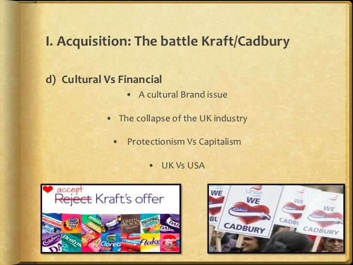 kraft and cadbury takeover management essay Essay cadbury and the environment essay cadbury and the environment essay  two years on and cadbury was bought over by kraft until the buyout by kraft, the implications that fell on the stakeholders were all positive as they always had the community in mind  (rbs) role in the whole takeover as they were responsible for funding kraft.