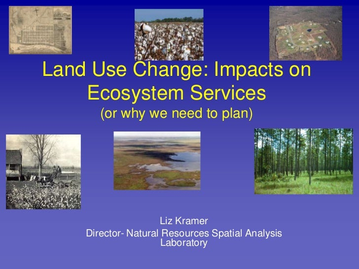 Land Use Change: Impacts on Ecosystem Services(or why we need to plan)<br />Liz Kramer<br />Director- Natural Resources Sp...