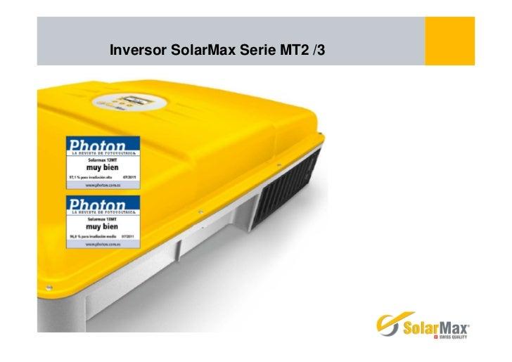 Inversor SolarMax Serie MT2 /3