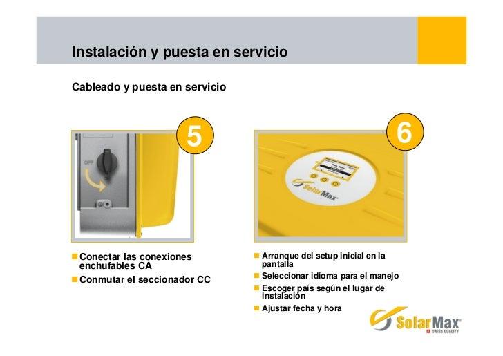 Instalación y puesta en servicioCableado y puesta en servicio                      5                                      ...