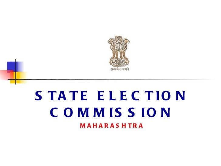 STATE ELECTION COMMISSION MAHARASHTRA