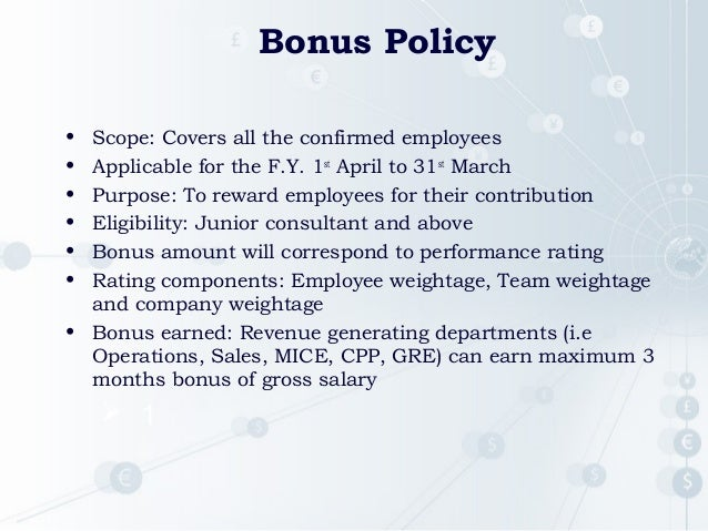 performance bonus template - kra presentation